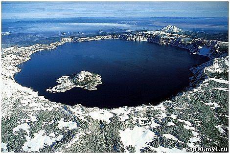 В штате орегон сша озеро